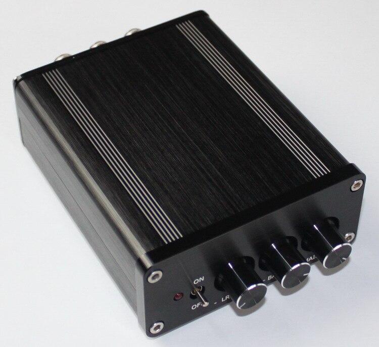 ФОТО YJ Mini digital audio amplifier TPA3116 2.1 Class D NE5532 2 * 50W + 100W  HIFI amplificador