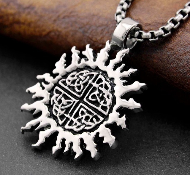 pendant knot four shieldknotback necklace irish products celtic viking works shield corners