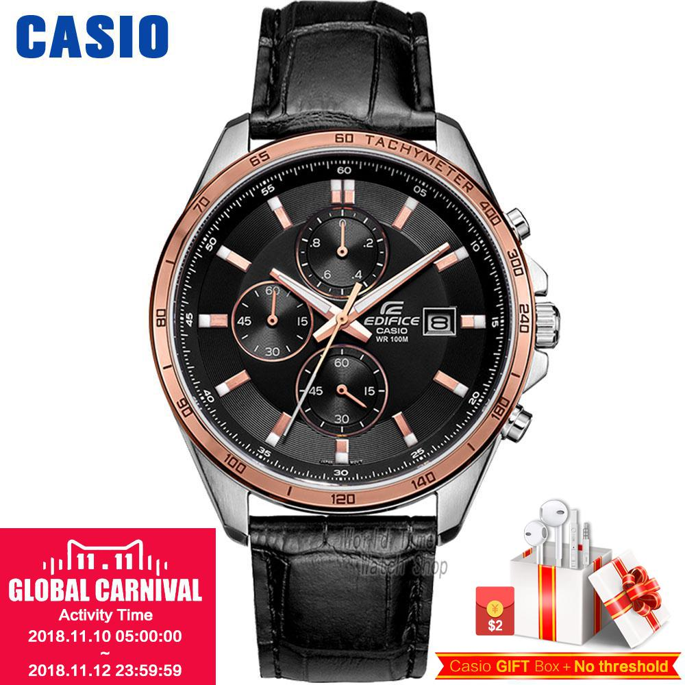 Casio watch Big dial three leather belt fashion male watch EFR-517L-7A EFR-512L-8A EFR-517L-1A EFR-517L-7A href