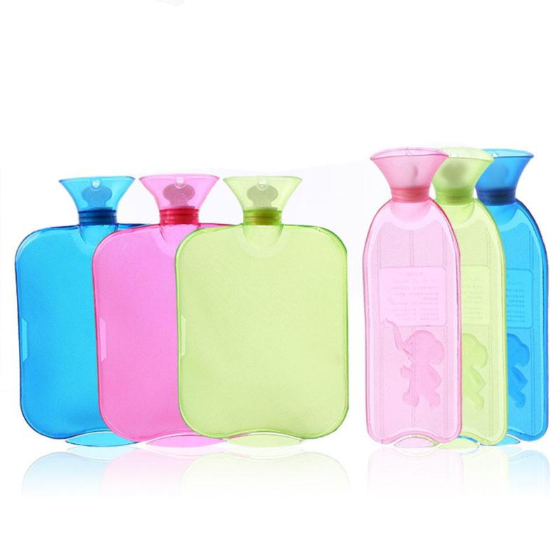 Hot Water Bag Hand Feet Warming Hot Water Bottles Bags Transparent PVC Warm Hot Water Bottle Winter Warmer High Quality L50 пена д бритья dockland menthol 200мл