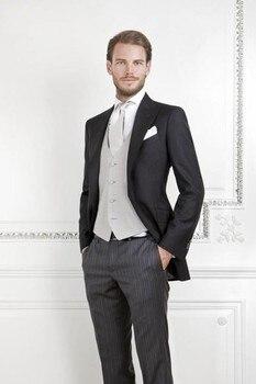 2016 Custom Made Groom Two Buttons Groomsmen Peak Lapel Wedding/Dinner Suits Best Man Bridegroom (Jacket+Pants+Tie+Vest) B560