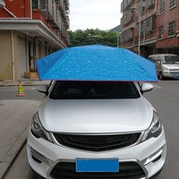 Полуавтоматический автомобильный гидравлический тент под давлением складной зонт Анти УФ автомобильный подвижный солнцезащитный козырек