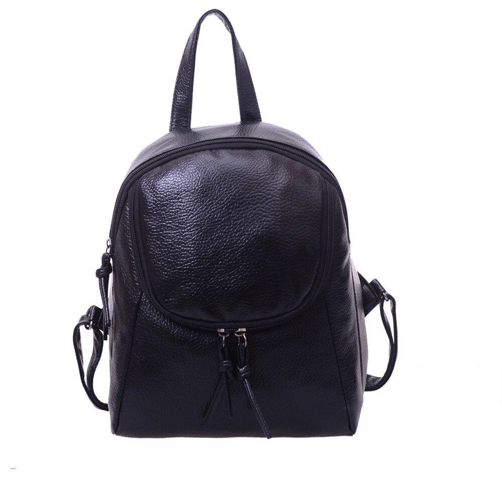 Fashion Mini Backpack Women Black/White Korean Style Leather Shoulder Bags Female Casual Travel Bag Rucksack Mochilas #Zer