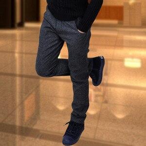 Image 3 - Chłopięce spodnie modele zimowe duże dziewicze spodnie rozciągliwe dziecięce spodnie dorywczo spodnie chłopięce dodatkowo pogrubiony aksamit dziecięcy pojedynczy/spodnie