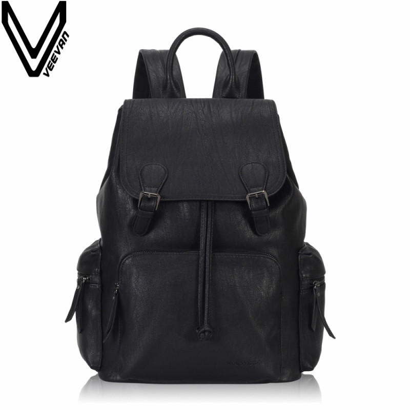 VEEVANV Brand Fashion Men BackpackS Female Leather Laptop Shoulder Bags Vintage Girls School Backpack Casual Daily Large Mochila veevanv brand school backpacks children shoulder bags dragon pattern printing backpack fashion mochila boys casual daily bag new