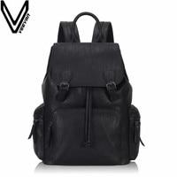 VEEVANV Brand Fashion Men BackpackS Female Leather Laptop Shoulder Bags Vintage Girls School Backpack Casual Daily