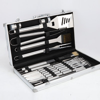 24 pcs/set High block set barbecue set BBQ Tools Roast with knife and fork BBQ tool
