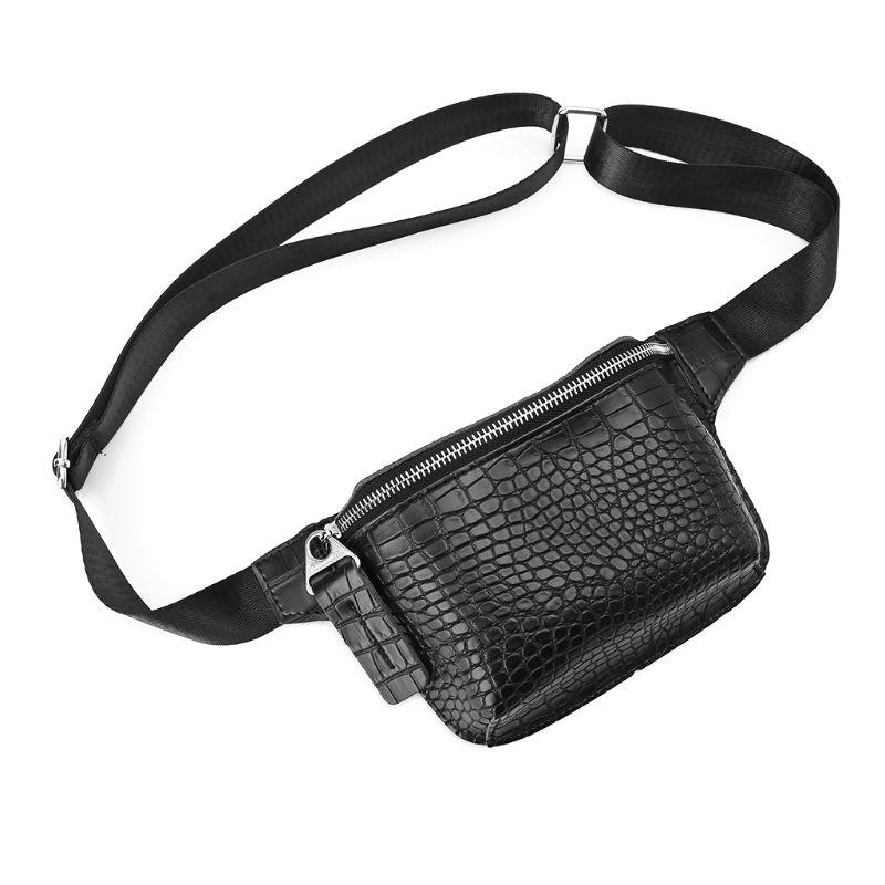 Alligator Pattern PU Leather Waist Belt Chest Bag Women Luxury Phone Pouch Fanny Hip Pack 4 Colors