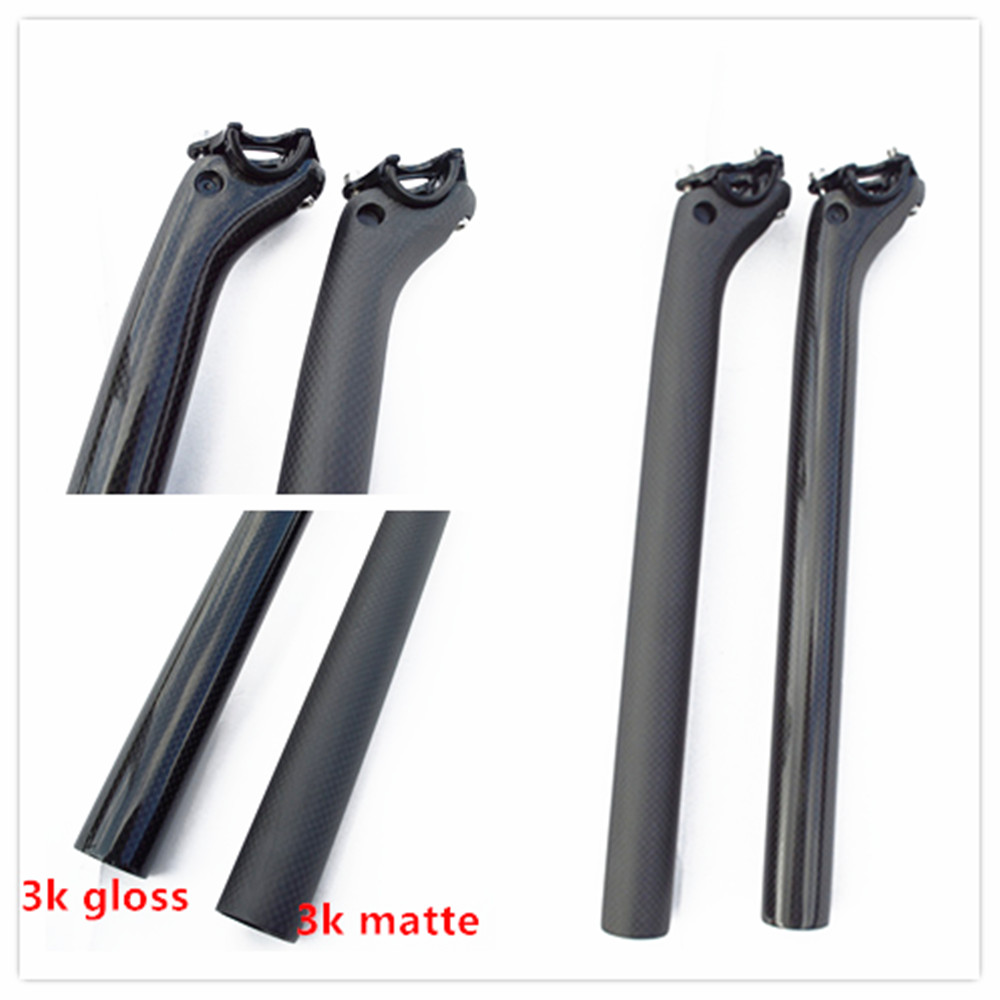 Bicycle 3K Carbon Seatpost Setback 40mm offset mountain road bike 31.6 x 330mm