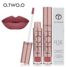 O.TWO.O Lipstick Liquid Matte Waterproof Long Lasting Matte Lip Gloss Make Up Li