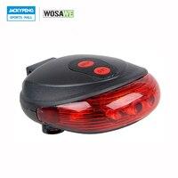WOSAWE Bicycle Bike Light Safety Warning Cycling Bicycle Rear Lamp 5 LED Flashing 2 Laser Rear