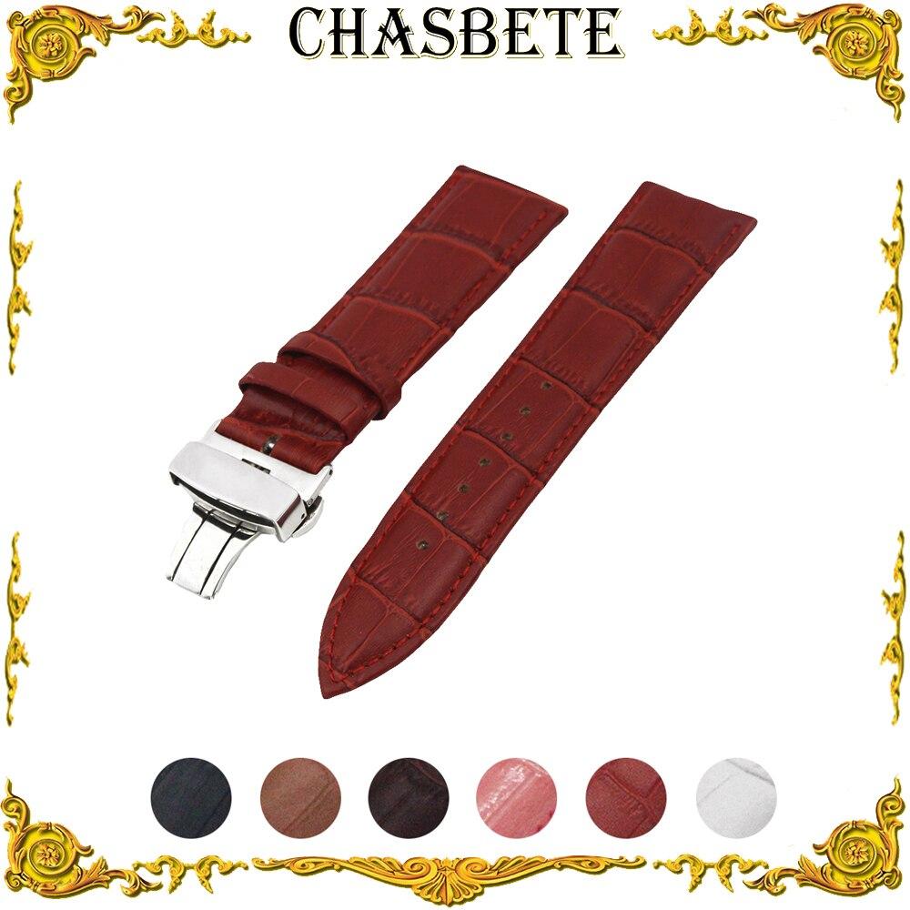 20mm 22mm Leather Watch Band for Amazfit Huami Xiaomi Pace Bip Smart Watchband Men Women Strap Wrist Loop Belt Bracelet Black
