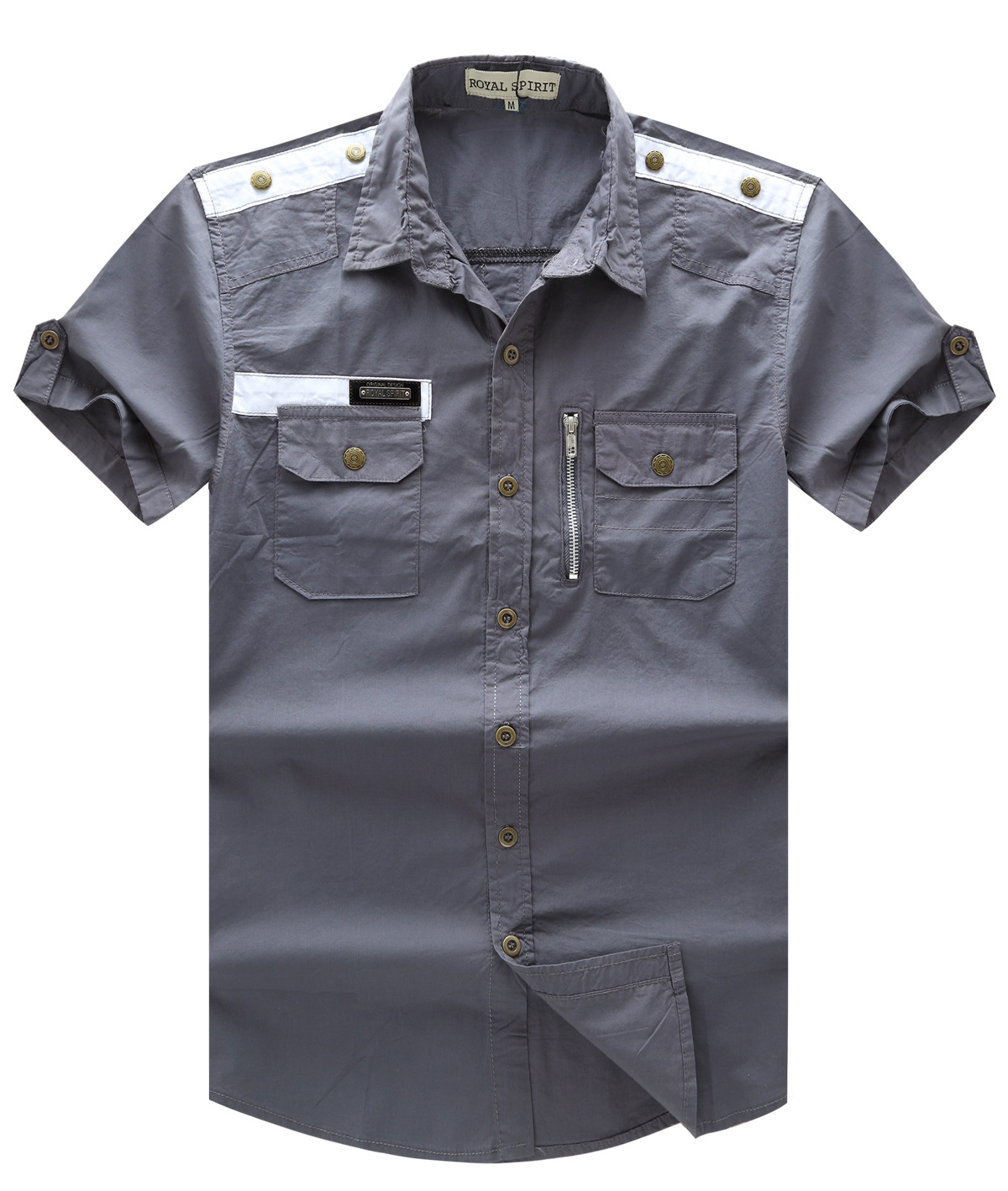 Mens dress shirt short sleeve shirts man casual mens for Black brown mens shirts