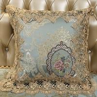 Jacquard Cushion Cover European Cushion Cover Luxury Lace Cushion for Sofa Chair Seat Decorative Pillowcases High Precision