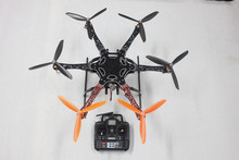 F05114-AB F550 Hexa-Rotor Air Frame FlameWheel Kit RTF Drone Assembled with Landing Gear Radiolink 6CH TX&RX NO Battery Adapter