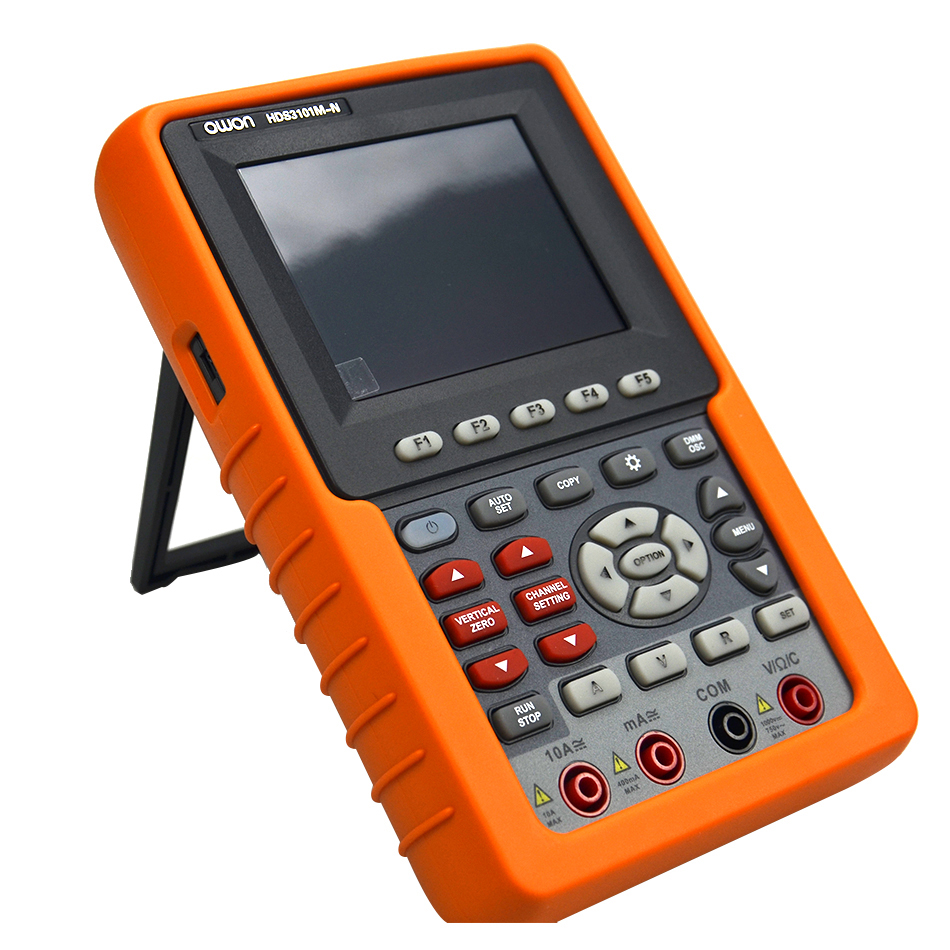 OWON Osciloscópio Frete Grátis Hot Digital Precisão HDS1021M-N HDS3101M-N 20/60/100 mhz Handheld Osciloscópio de Canal Único