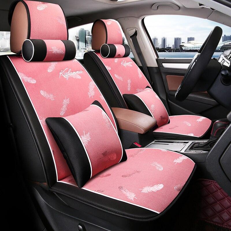 Housse de siège de voiture coussin de siège de voiture en lin pour KIA lada lifan daewoo Hyundai accessoires de voiture solaire