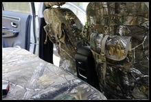 car Camouflage seat covers Hunting jacket full canvas function cover off-road for HONDA Fit Odyssey