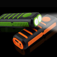 flashlight with music Portable high power bluetooth speaker torch light 3 in 1 powerbank led 18650 Battery Outdoor mp3 playing(China)