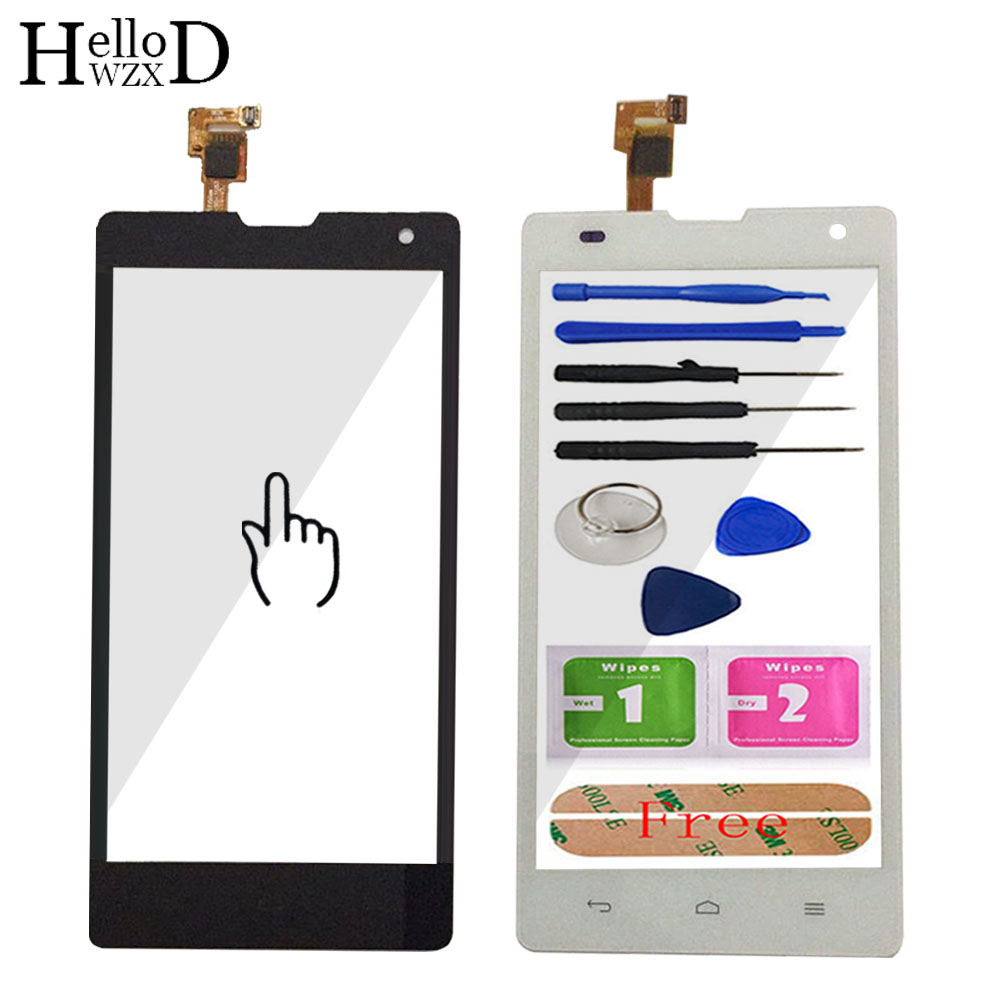 5.0'' Touch Glass For Huawei Honor 3C H30 G740 Touch Screen Glass Digitizer Panel Touchscreen Front Glass Lens Sensor + Adhesive