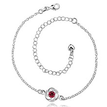 2016 Hot Sale Gift Anklet Silver Color silver plated fashion jewelry anklet for women jewelry/iFYPKQUFD