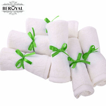New 2017 - 6PC/Set Bamboo Baby Towel 25x25cm Face Towels Care Wash Cloth Kids Hand Bath For Newborn Gift Box