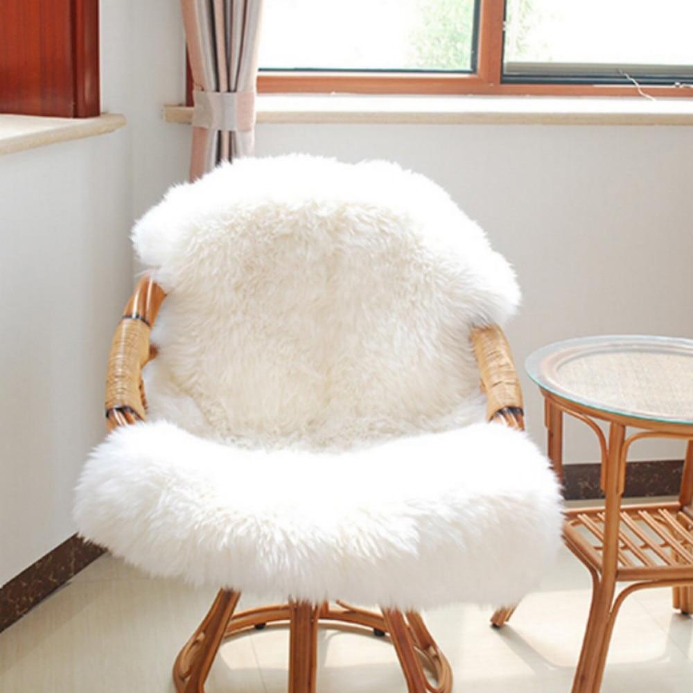 Luxury Faux Sheepskin Chair Cover Seat Pad Soft Sofa Carpet Decor Cushion Mattress Mat Skin