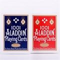 1 cubierta Suave 1001 ALADDIN naipes Magic card Poker Magia de Colección de color rojo o azul Cubierta Trucos de Magia Props 81227