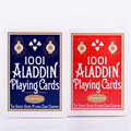 1deck Smooth 1001 ALADDIN playing cards red or blue  Magic card Poker Magic Collectible Deck Magic Tricks Props 81227