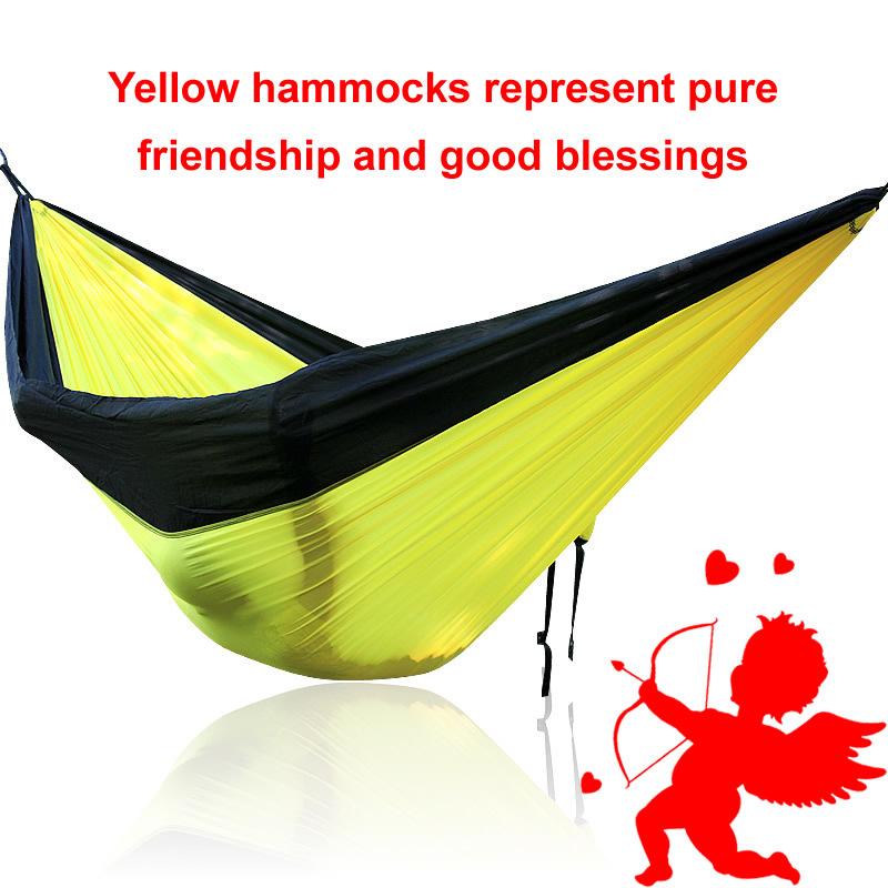 National Day (Greece) GIFTS Yellow Black Outdoor Hammock national day colombia gifts