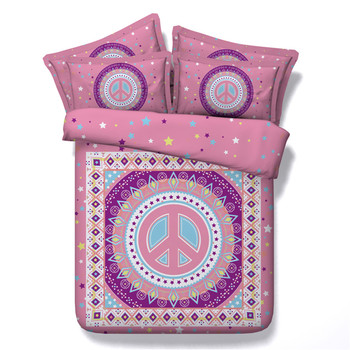New Arrival Bohemian Style 3/4PC Bedding Sets Kids/Adult Twin/King/Queen/Super King Size Girls Bedroom Home Textiles Decoration