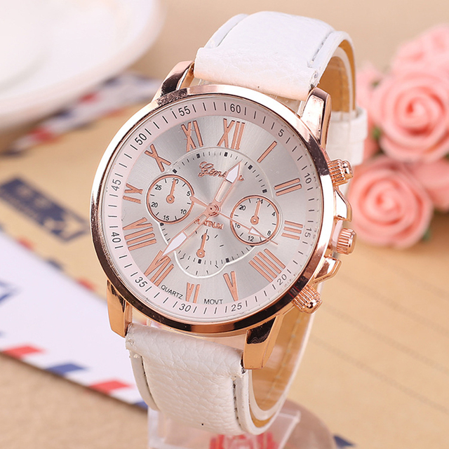 Famous Brand Quartz Watch Ladies Waterproof Leather Watch Watch Fashion Romantic