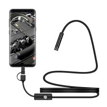 1 M 7mm Micro USB/Type-c/Android 3-in-1 Computer Endoscope Borescope Waterproof Micro USB Camera Inspection Tube(China)