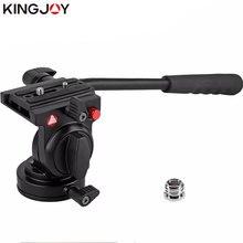 KINGJOY Oficial KH-6750 Liga de Alumínio Câmera Tripé Cabeça de Vídeo Fluido de Amortecimento Titular Stativ Móvel Flexível Digital SLR DSLR