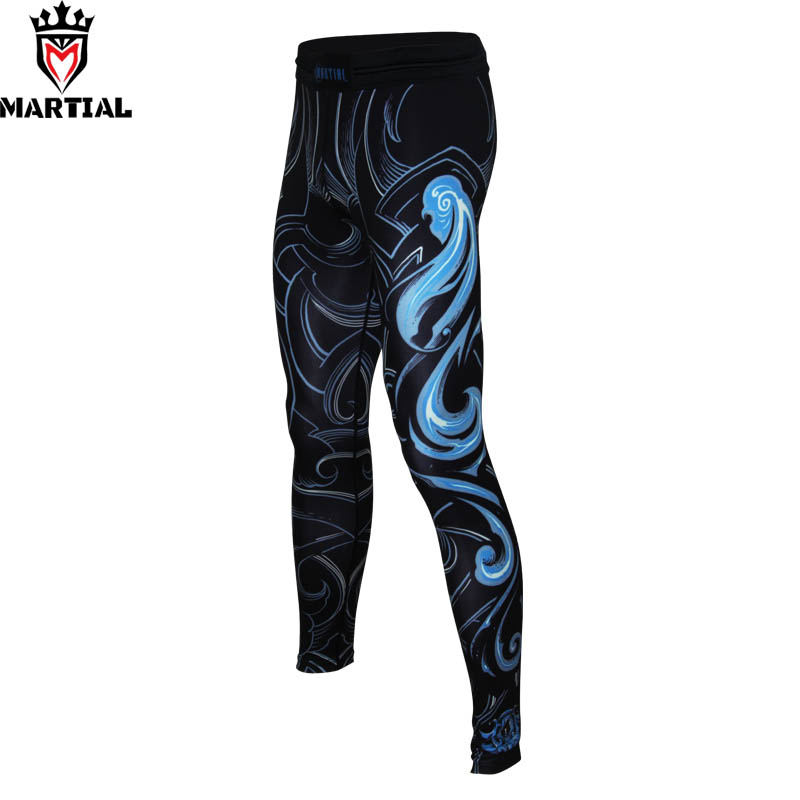 Martial : Virgo constellation design comfortable mma shorts jogging pants sport elastic exercise leggings mens athletic pants