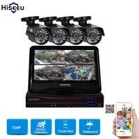 4CH HD 1200TVL 720P 1500TVL 960P 10inch Displayer CCTV KIT System IR Bullet Outdoor Surveillance Camera
