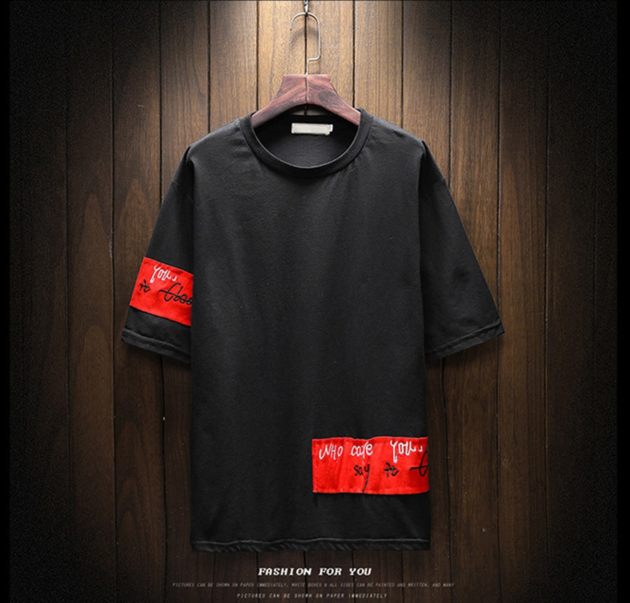 FASHION TEES Round Neck Short Sleeve Cotton T-Shirts Printing Pattern Slim Fit Mens Tshirts Hip Hop Tees Summer Male Tops M-5XL 2