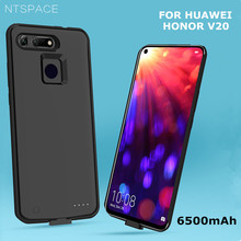 NTSPACE Battery Charger Cases for Huawei Honor V20 6500mAh Portable Back Clip Charging Cover Power Case