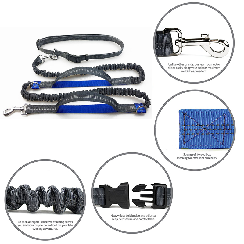 [TAILUP] Djurhund Running Leash Rope with2 handtag DogJoging Walking - Produkter för djur - Foto 3