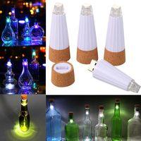6 Pcs/Set Wine Bottle Lamp Solar Wine Bottle Stopper Copper Fairy Strip Wire Outdoor Party Decoration Novelty Night Lamp DIY C