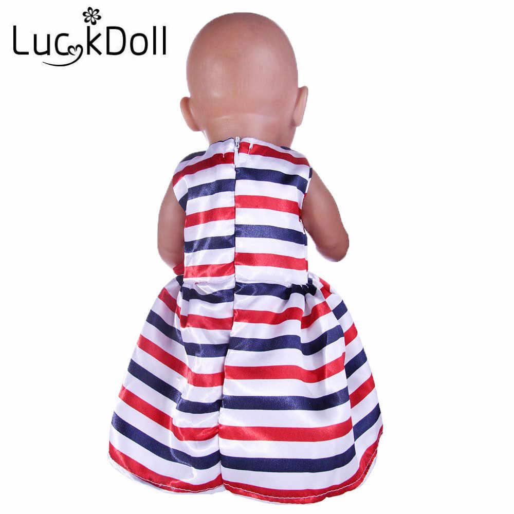 Luckdoll ファッション新ミニための 18 インチアメリカ人形と 43 センチベビー誕生人形アクセサリーのためのキッズ最高のクリスマスギフト