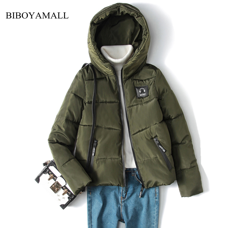 BIBOYAMALL 2017 New Hot Parkas Womens Hooded Winter Jacket Women Fashion Casual Cotton Outerwear Coat Female Jackets Plus Size winter women denim jacket flocking coats new fashion hooded cotton parkas plus size jackets female warm casual outerwear l384