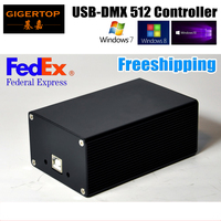 Free Ship HD512 USB DMX 512 Dongle Stage Light PC/SD Card Box Controller SD512III USB Power Supply 512 DMX Output Channel TIPTOP
