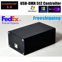 Por Fedex HD512 Luz Do Estágio DMX USB 512 Dongle PC/Cartão SD Controlador de caixa SD512III USB Fonte De Alimentação de 512 Canais de Saída DMX TIPTOP