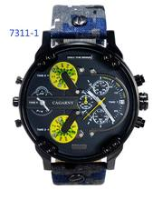 DHL 2016 new model 7311 Men watch military watch quartz movement big dial business casual clock