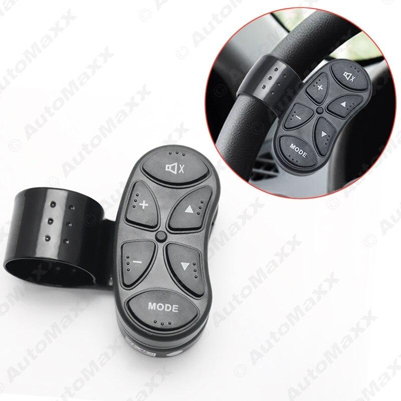 Prix pour Nouveau 6-Key Voiture Sans Fil Bouton De Commande au Volant Pour Voiture Android DVD/GPS Navigation Lecteur Bluetooth Téléphone # J-4262