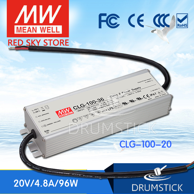 hot-selling MEAN WELL CLG-100-20 20V 4.8A meanwell CLG-100 20V 96W Single Output LED Switching Power Supply mean well clg 150 12b 12v 11a meanwell clg 150 12v 132w single output led switching power supply [real6]