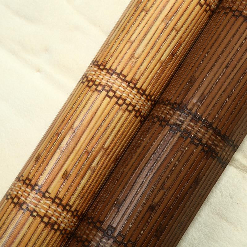 Beibehang style sud-est asiatique papier peint classique paille bambou tapis texture vertical rayé papier peint restaurant décoration