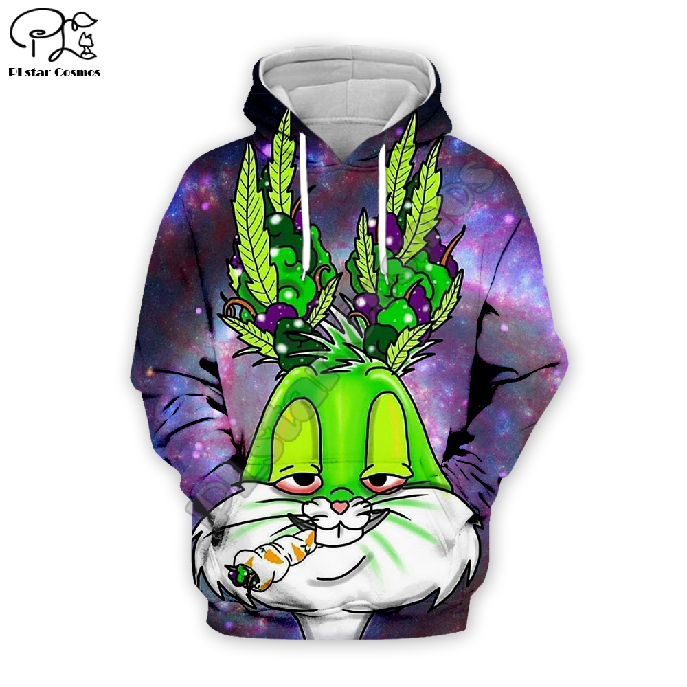 Men Women Galaxy Smoking Bugs Bunny 3d Hoodies Looney Tunes Print Sweatshirt Zipper Unisex Casual Pullover Autumn Teens Jacket