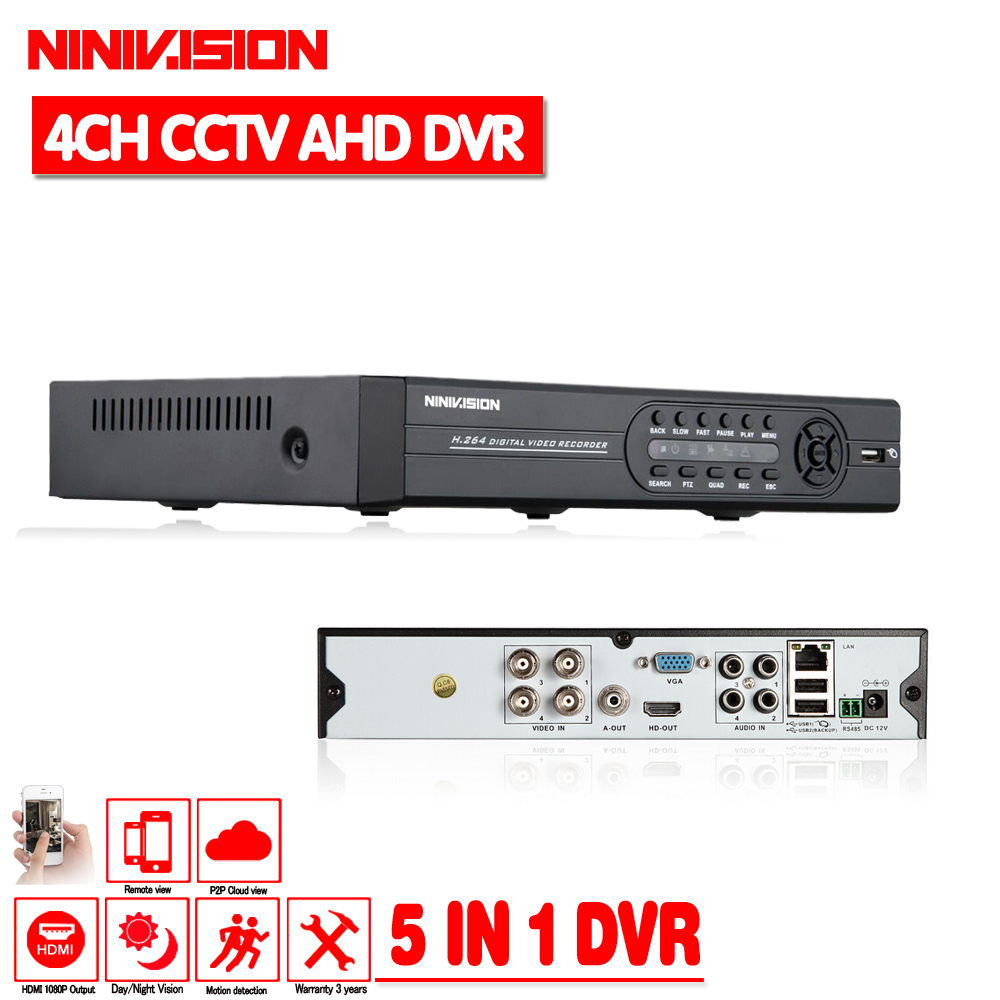 Hybrid AHD DVR 4 channel AHD-NH 1080N home security cctv dvr 4ch standalone support AHD analog ip camera system network recorder new home nh 5632